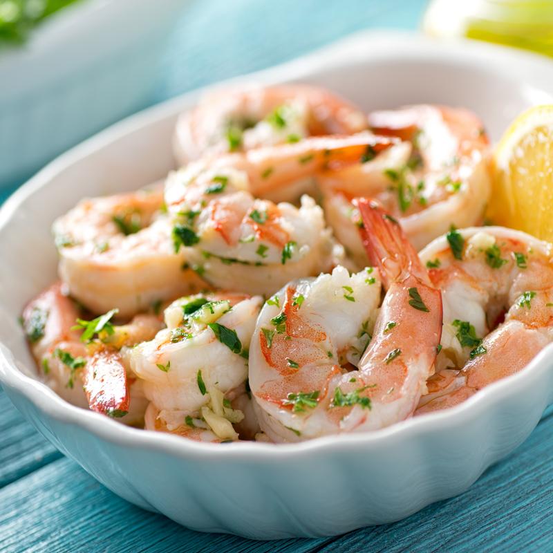 home delivered menu shrimp scampi